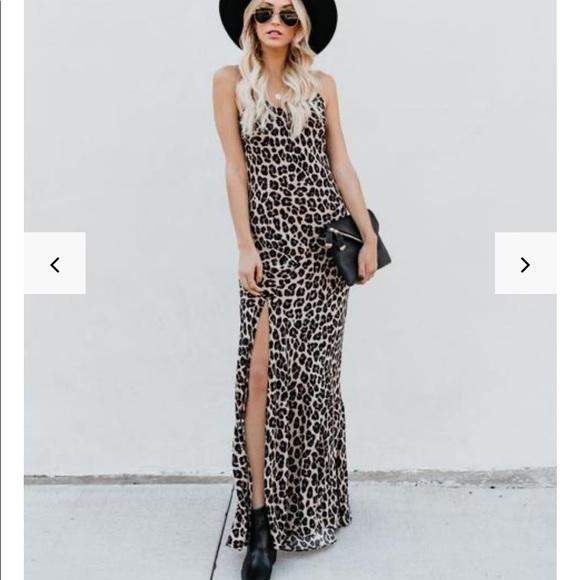 Vici Dresses & Skirts - Smokin' Hot Leopard Cami Maxi Dress